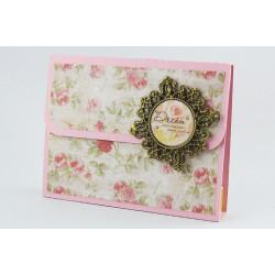 Kerzen-Karte Vintage Rose KK_14